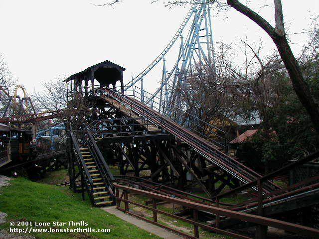 Runaway Mine Train Six Flags Over Texas Arlington Texas Usa Six Flags Over Texas Six Flags Roller Coaster