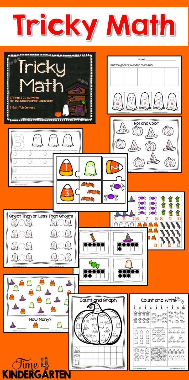 Tricky Math for Kindergarten   Handwriting, Kindergarten and Math