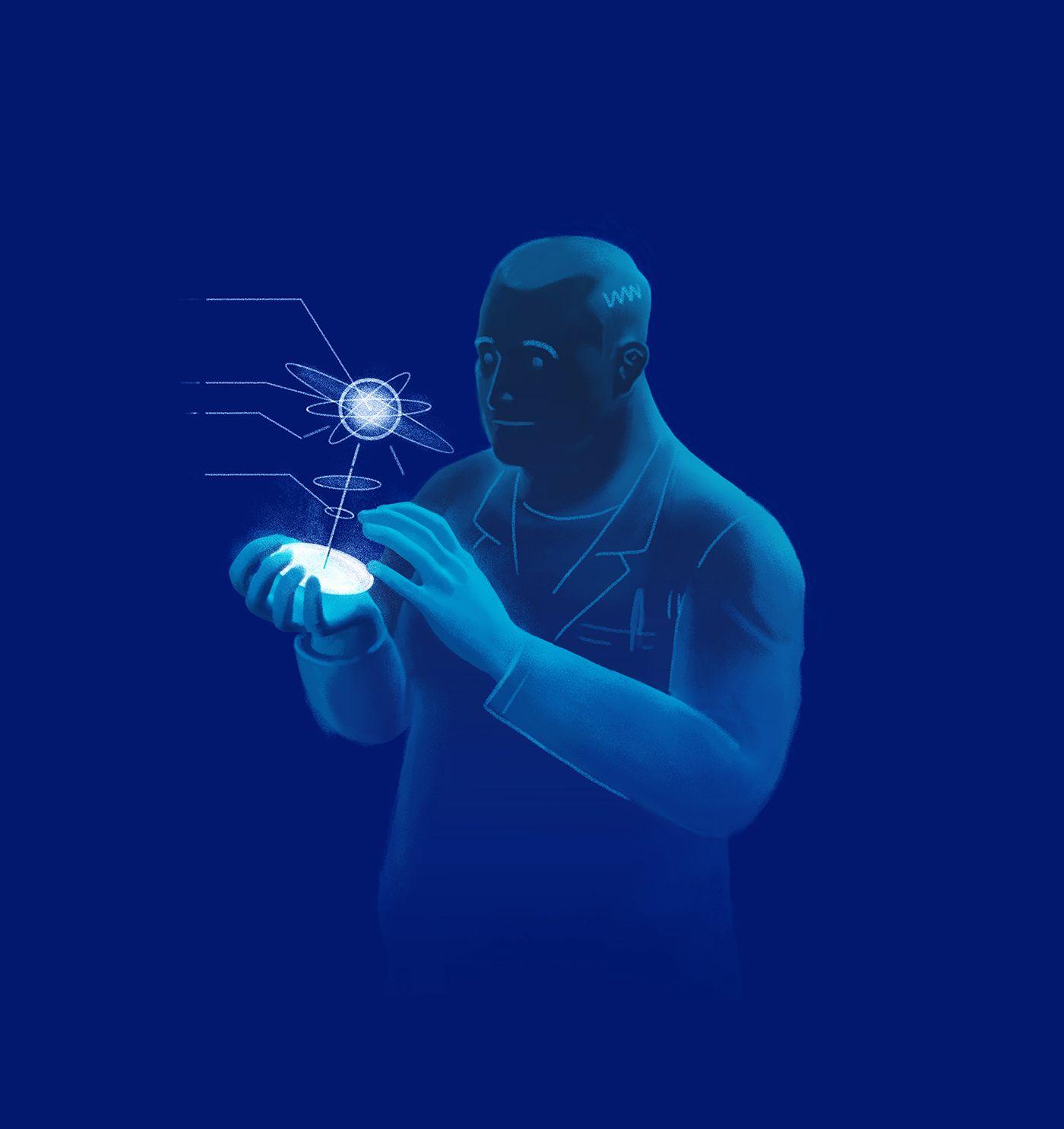 Science on behance editorial illustration illustration