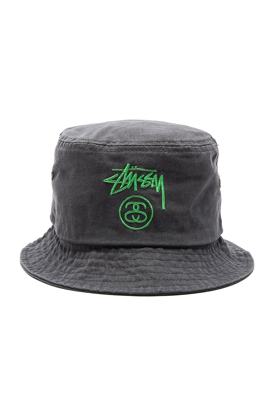 a2bbc4527b5 Stussy Stock Lock Pigment Dye Bucket Hat in Black
