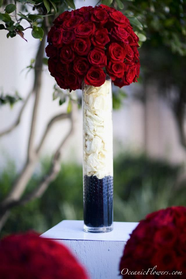 Red Roses Large Centerpieces