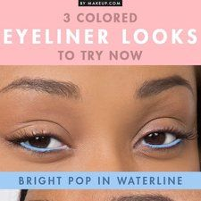 Colored Eyeliner Looks to Try !!! #eyemakeup #summertrends #eyelooks - bellashoot.com