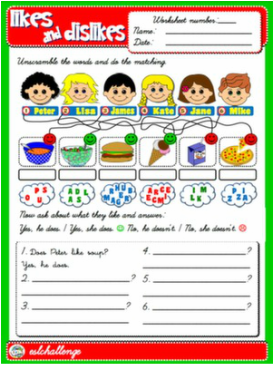 Lesson Plans Student Worksheet 1 Student Worksheet 2