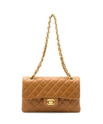 cadc1815294d Chanel: caramel lambskin matelasse double flap vintage shoulder bag  $2,599.00