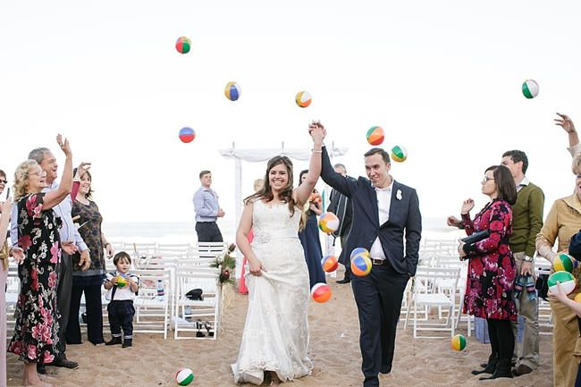 Mini Beach Ball Confetti Nautical Wedding Ceremony In C And Navy Jack