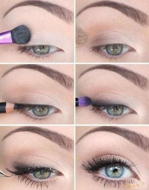 Mooie oog make-up voor een doordeweekse dag. #make-upideen