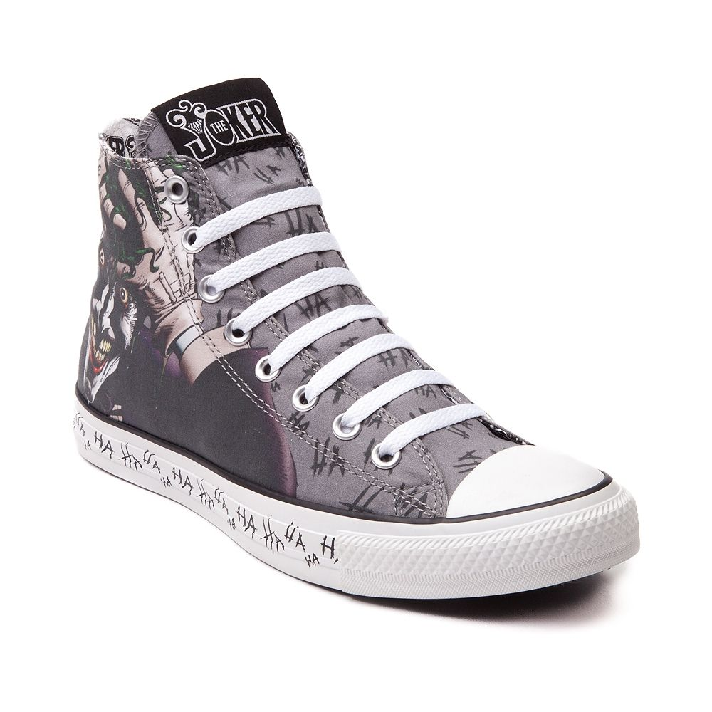 Shop for Converse All Star Hi Joker Sneaker in Gray at Journeys Shoes.