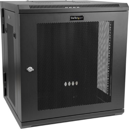 12u Wall Mount Server Rack Cabinet Up To 17 In Deep Hinged Enclosure Network Cabinet Server Rack Locker Storage