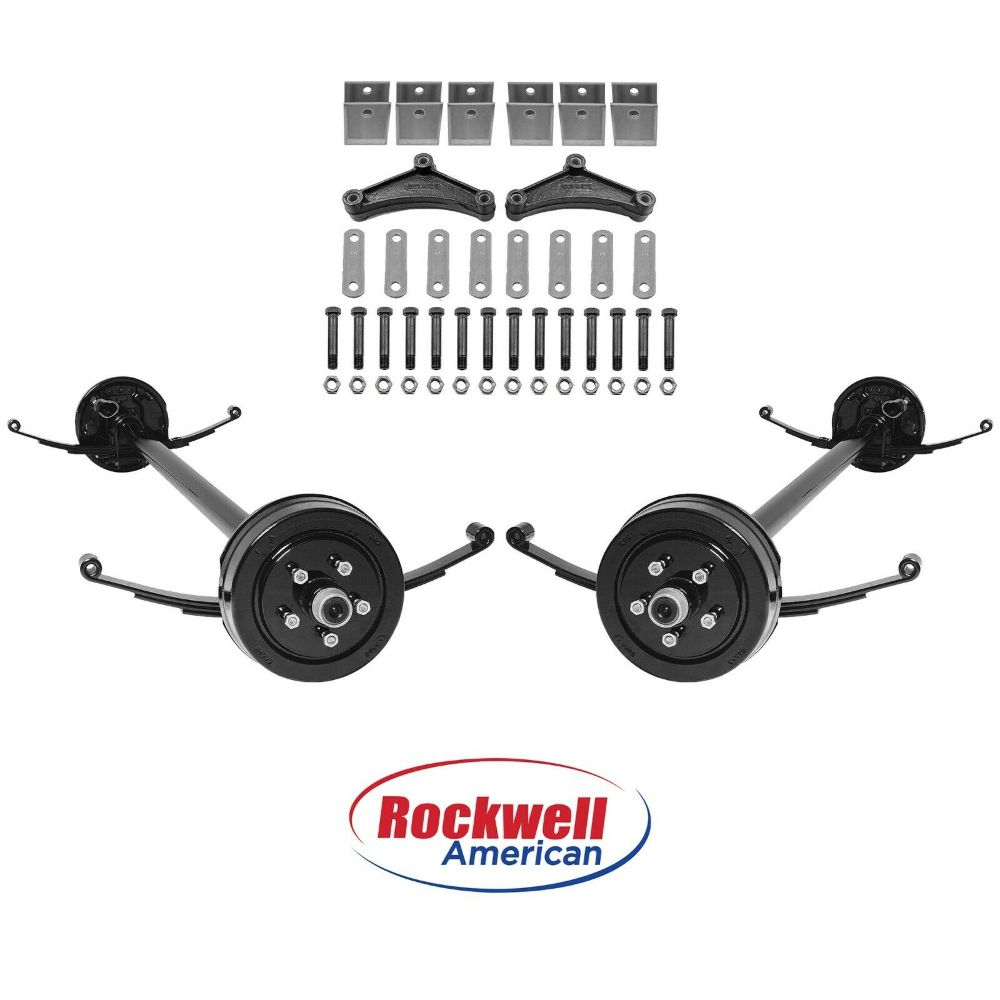 Tandem 3 500 Lb Electric Brake Trailer Axle Kit 7 000 Lb Capacity 95 80 Ebay Trailer Axles Axle Tandem
