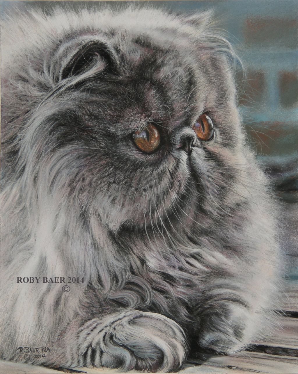 Lilla Boss 8x10 Pastel On Bristol Board By Robybaer Deviantart Com On Deviantart Persian Cat Persian Kittens Cute Cats And Kittens