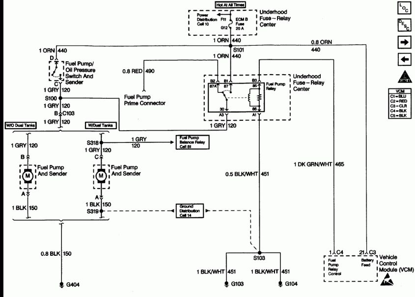 1990 Chevy 1500 Fuel Pump Relay Wiring Diagram