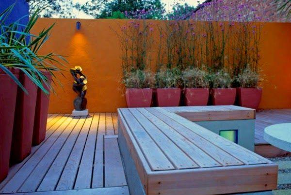 Colores Para Las Paredes Del Patio O La Terraza Jardines De Pared Decoracion De Patio Exterior Azoteas Verdes