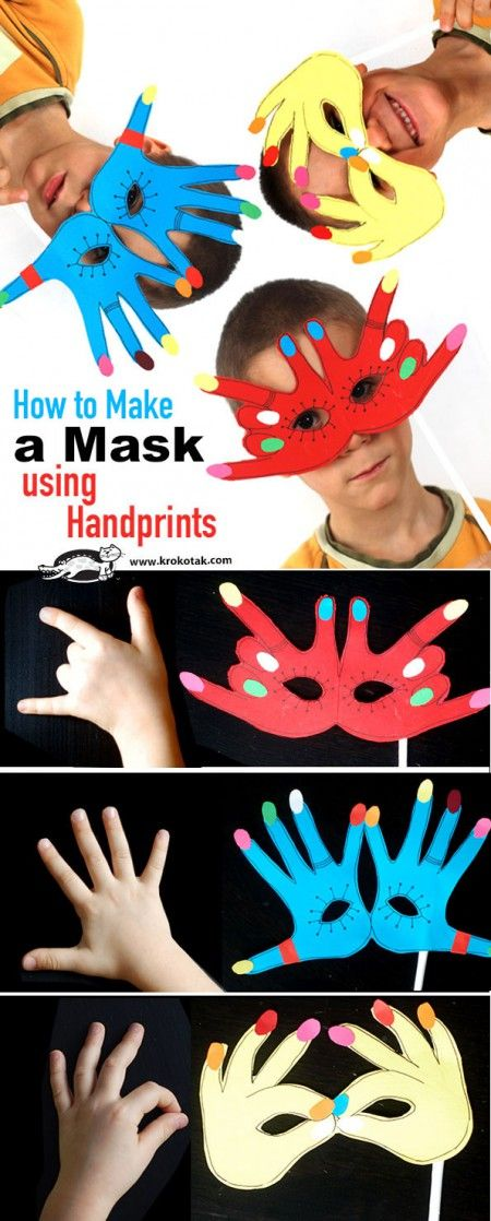 How to Make a Mask using Handprints