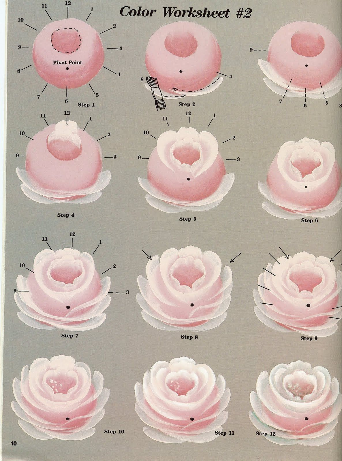 One stroke liveinternet for How to paint a rose in watercolor step by step