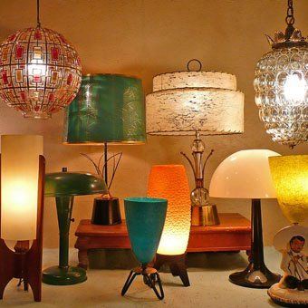 Inspiration for lamps! I have been known to paint lamp, or sometimes the shade