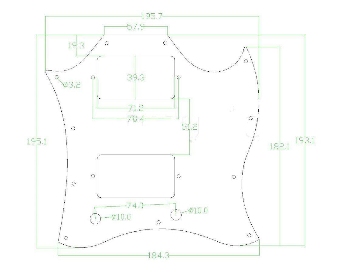 Carbon Fiber Pickguard For Sg Standard Full Face Guitar Plate Pickguard Sg Standard Carbon Fiber