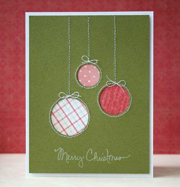 sch ne weihnachtskarten selber basteln winter feiertage cards pinterest christmas cards. Black Bedroom Furniture Sets. Home Design Ideas