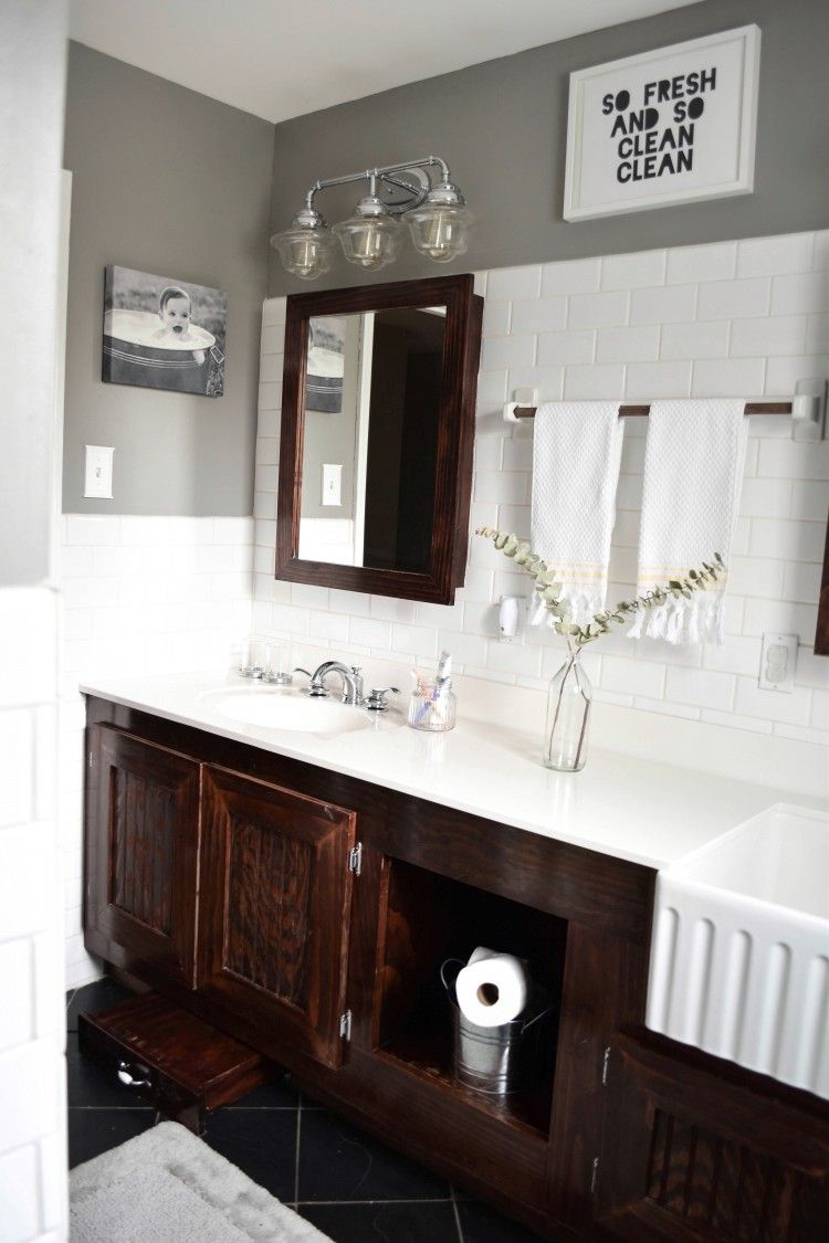 Kids Farmhouse Bathroom Reveal With Tom S Of Maine Lovely Lucky