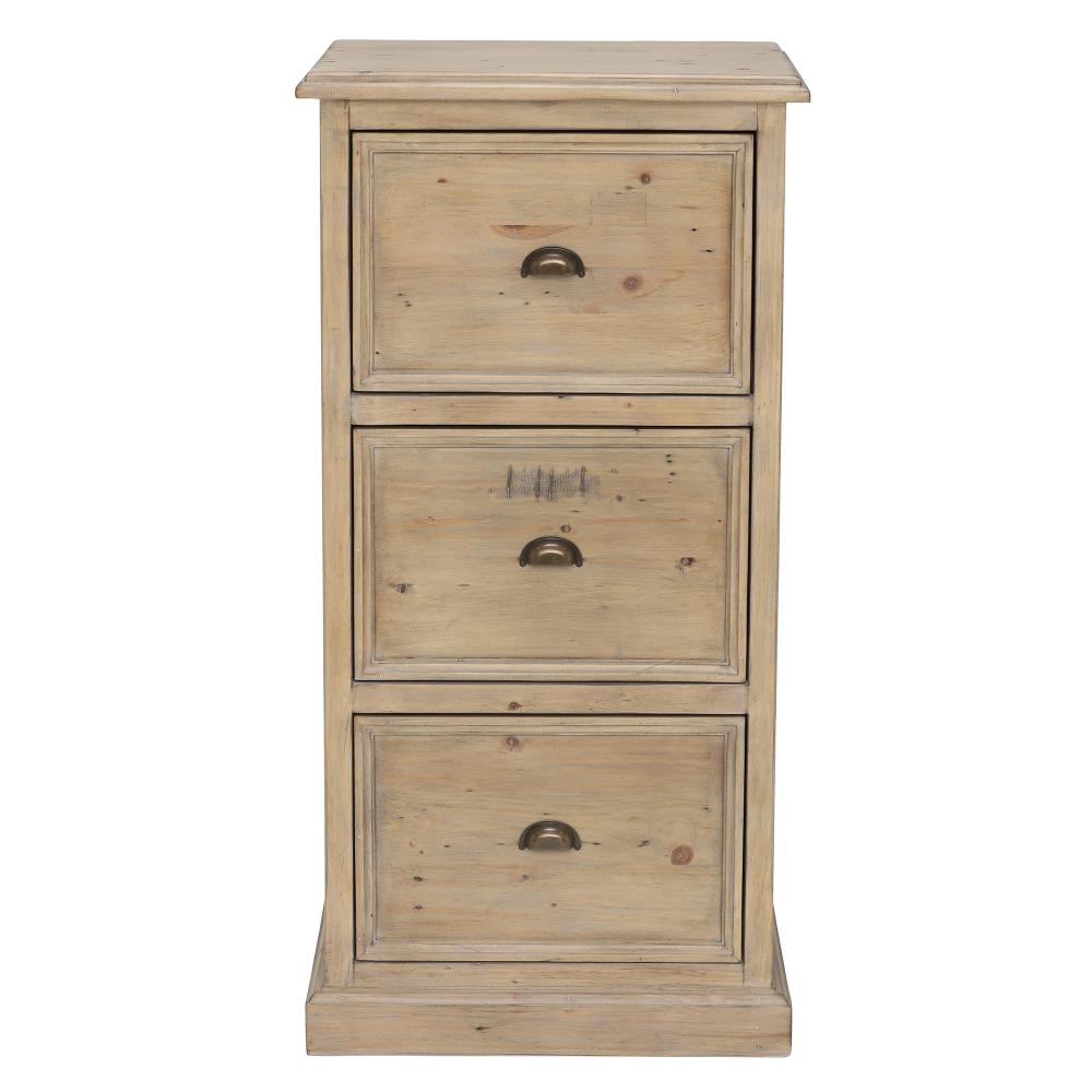 Verberie 3 Drawer Filing Cabinet, Wood - Barker ...