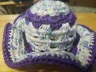 New! Handmade Crochet Summer Sun Hat Baby Purple Mix - preemie - 3 months #Baby #Toddler #premiebabyhats New! Handmade Crochet Summer Sun Hat Baby Purple Mix - preemie - 3 months #Baby #Toddler #premiebabyhats