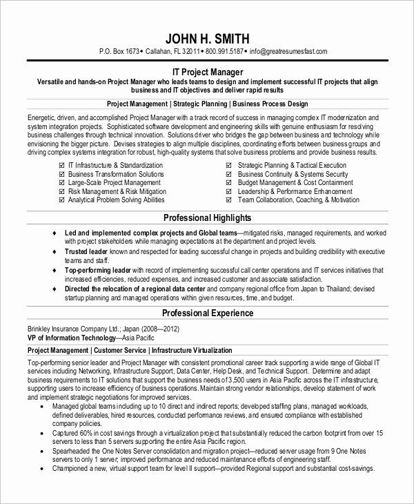 Technical Program Manager Resume 2 Elegant Free 8 Sample Project Manager Resume Templates In Pdf Project Manager Resume Manager Resume Resume