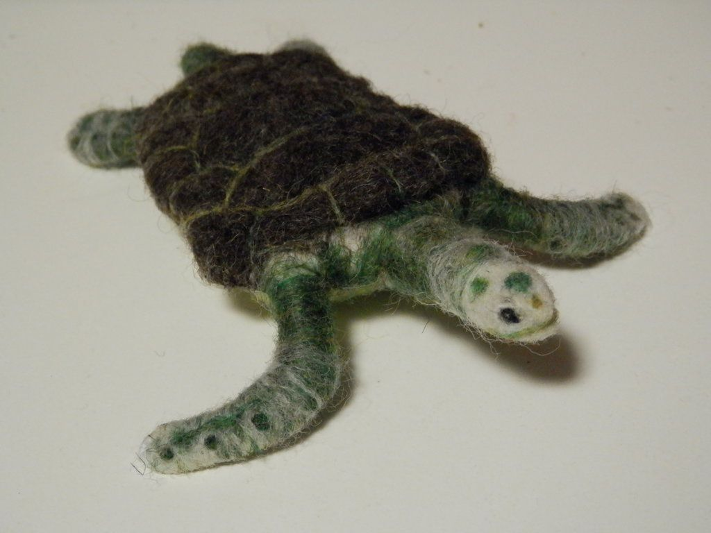 Needle Felted Sea Turtle by Myoketh