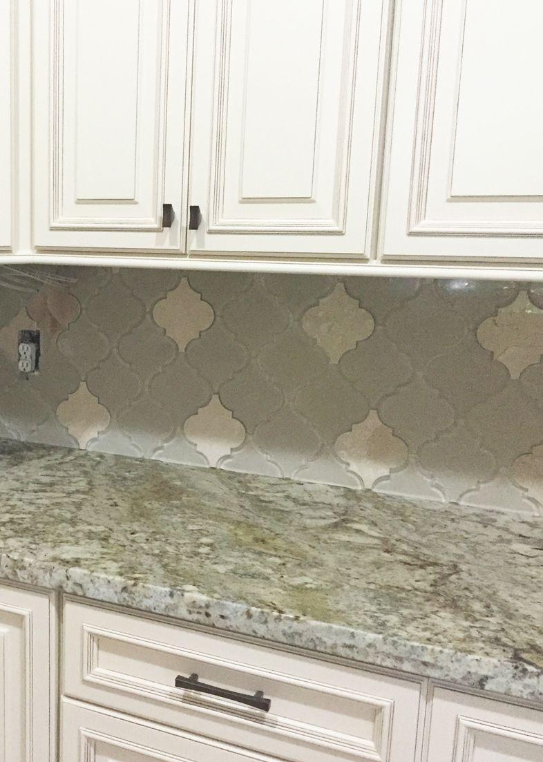 Arabesque Moroccan Kitchen Backsplash Tile Neutral Kitchen