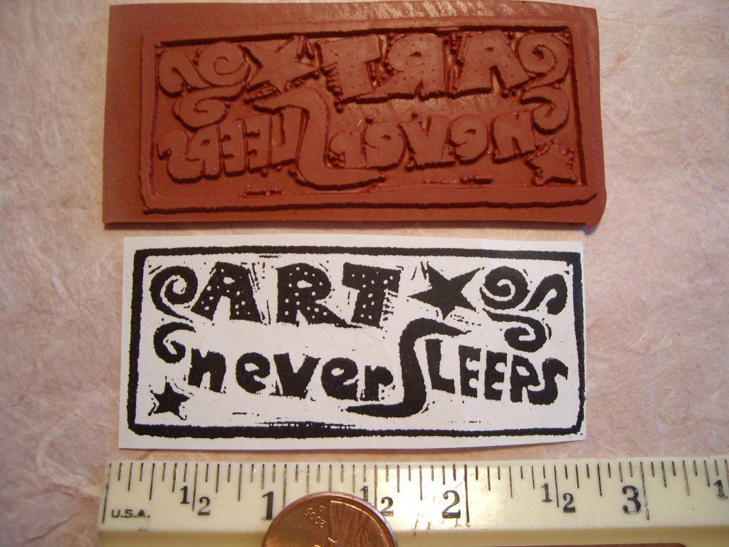 Art  Never Sleeps Rubber stamp un-mounted scrapbooking rubber stamping. $6.55, via Etsy.