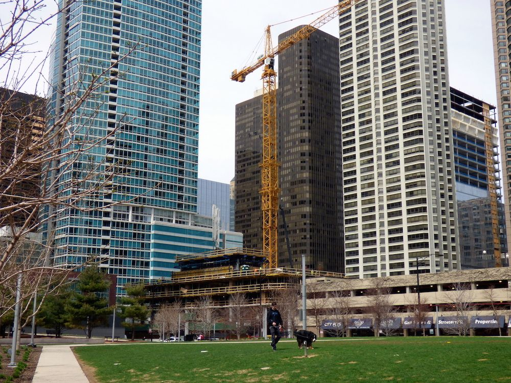 Springtime Check In On Construction Sites Throughout The City With Images Chicago Real Estate Construction Site Construction