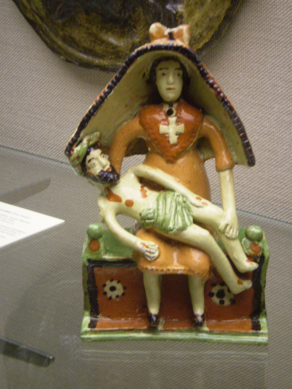 """Piëta"" slipware, 19th century, Frechen, Germany  Collection: Keramion, Frechen, DE"