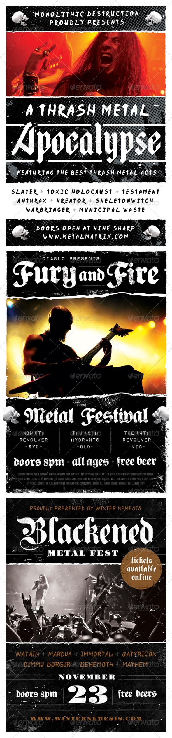 Heavy Metal Flyer Bundle - Volume One | Flyer printing, Flyer ...