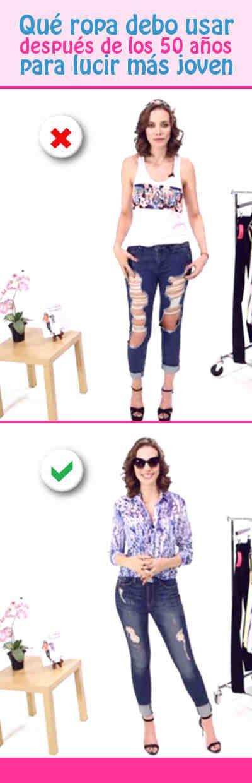 a42982c3d Qué ropa debo usar después de los 50 años para lucir más joven | CORTE -  COSTURA Y MUCHO MAS | Ropa de moda mujer, Moda y Moda para mujer