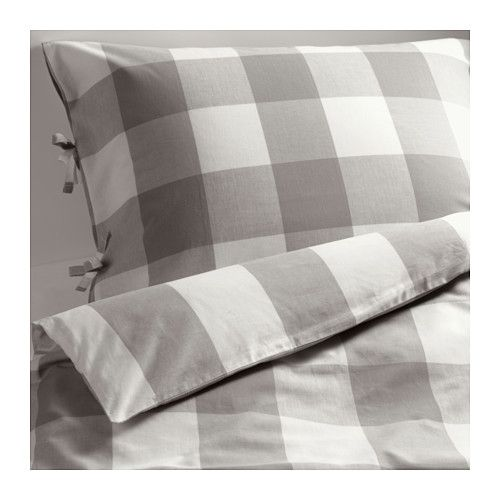 ikea emmie ruta bettw scheset 2 teilig 140x200 80x80 cm vor dem weben durchgef rbtes. Black Bedroom Furniture Sets. Home Design Ideas