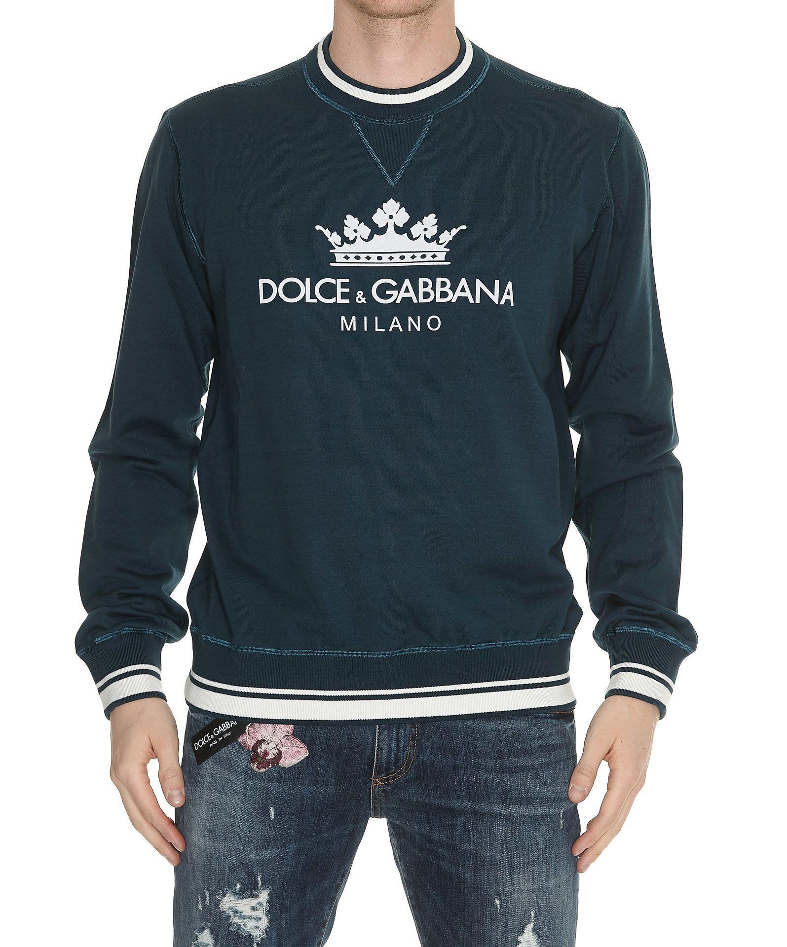 Dolce & Gabbana Crown Logo Sweatshirt In Blue ModeSens