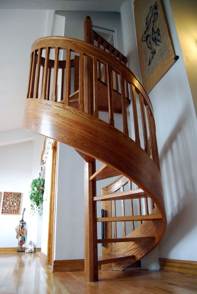 Circular stairs design home spiral staircase kits wood for Spiral stair design