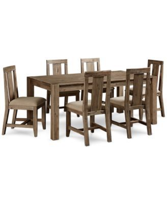 Canyon 7 Piece Dining Set Only At Macys Table And 6 Side Chairs