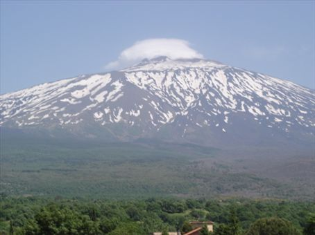 Mt. Etna, Sicily. I climbed to the top, back down, and then she spit rocks everywhere.