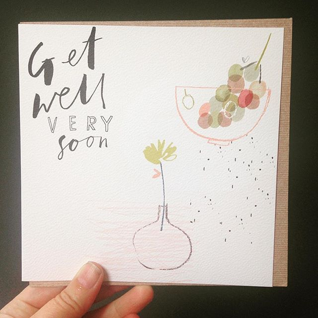 Heres another little design created for hallmark for waitrose hallmark for waitrose goes out especially to those that are a little under the weather x getwellsoon greetingcards card type illustration m4hsunfo