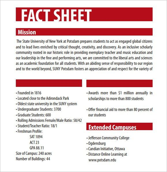 Fact Sheet Template - 60+ Beautiful Fact Sheet Templates, Examples