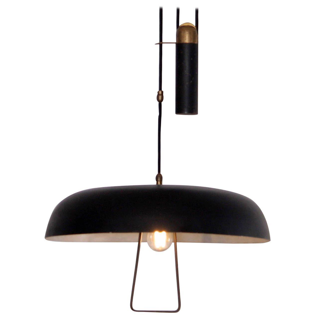 italian pendant lighting. Early 1950s Italian Counterweight Pendant Lamp Lighting N