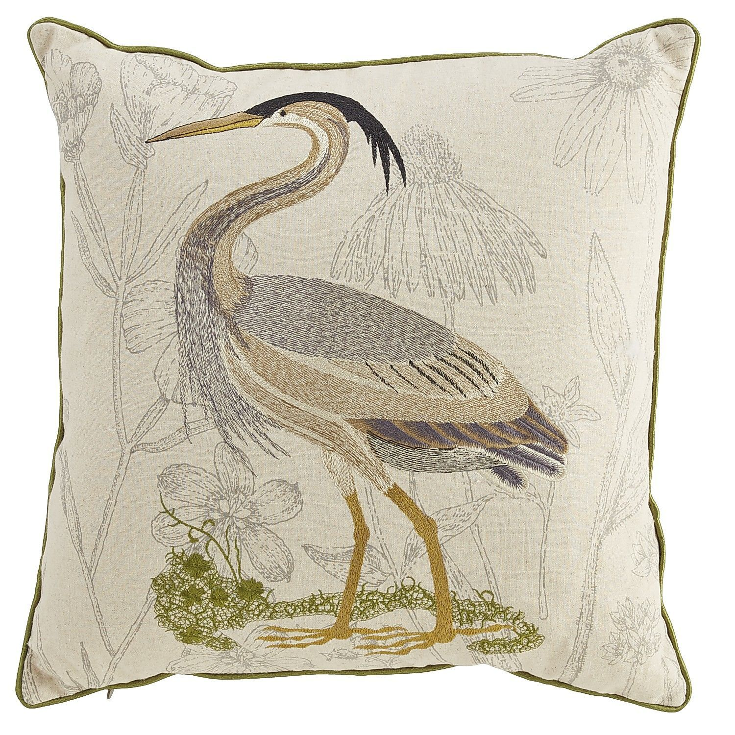 Fine Living Room Sofa Embellished Coastal Heron Pillow Pier 1 Onthecornerstone Fun Painted Chair Ideas Images Onthecornerstoneorg