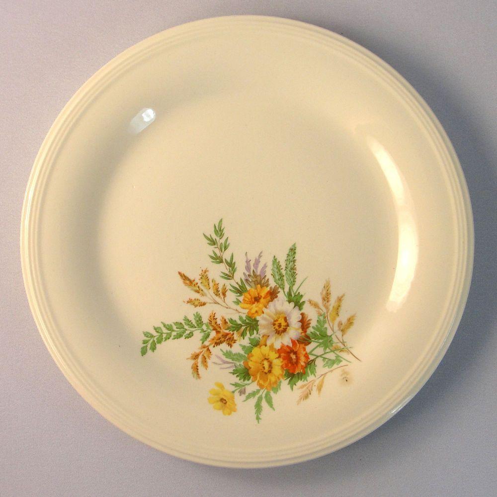 Edwin M Knowles China WILDFLOWERS Salad Plate 7.5\
