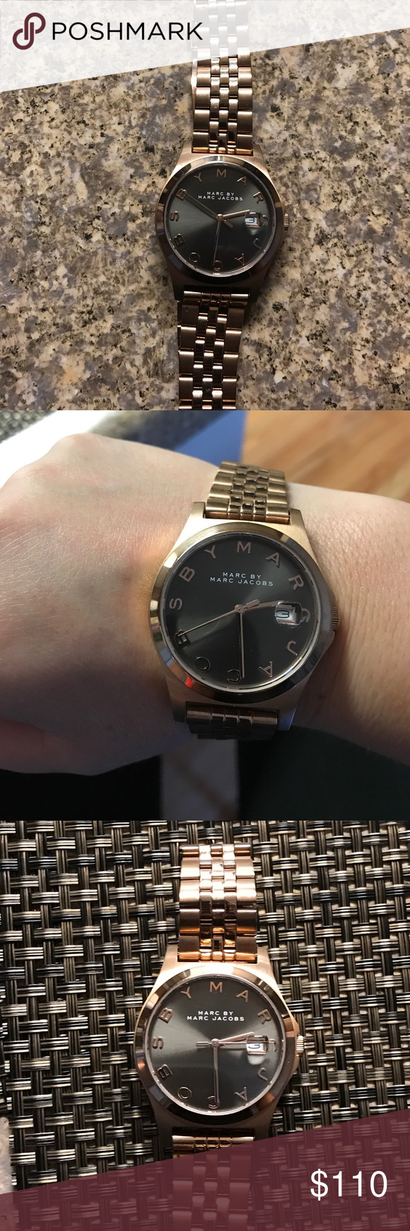 Rose Gold Marc Jacobs Watch Beautiful, Like New marc by marc jacobs watch, NO SCRATCHES, NO BOX Marc by Marc Jacobs Accessories