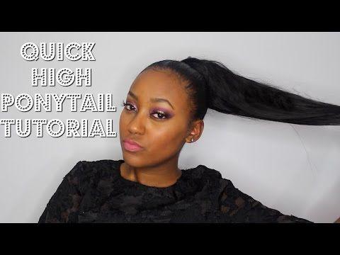 high faux ponytail tutorial beginner friendly  ponytail