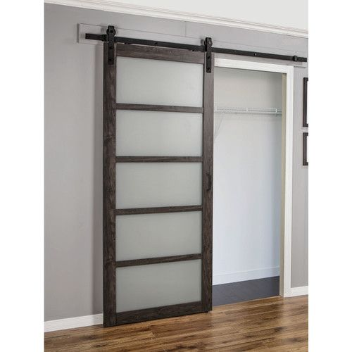Continental Glass Barn Door With Installation Hardware Kit Glass Barn Doors Sliding Doors Interior Interior Barn Doors