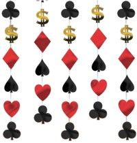 Casino String Decoration (includes six 7 feet long danglers in a pack)