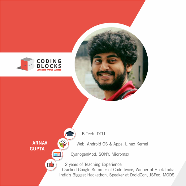 Meet the CB Team Arnav Gupta ! Arnav teaches Android