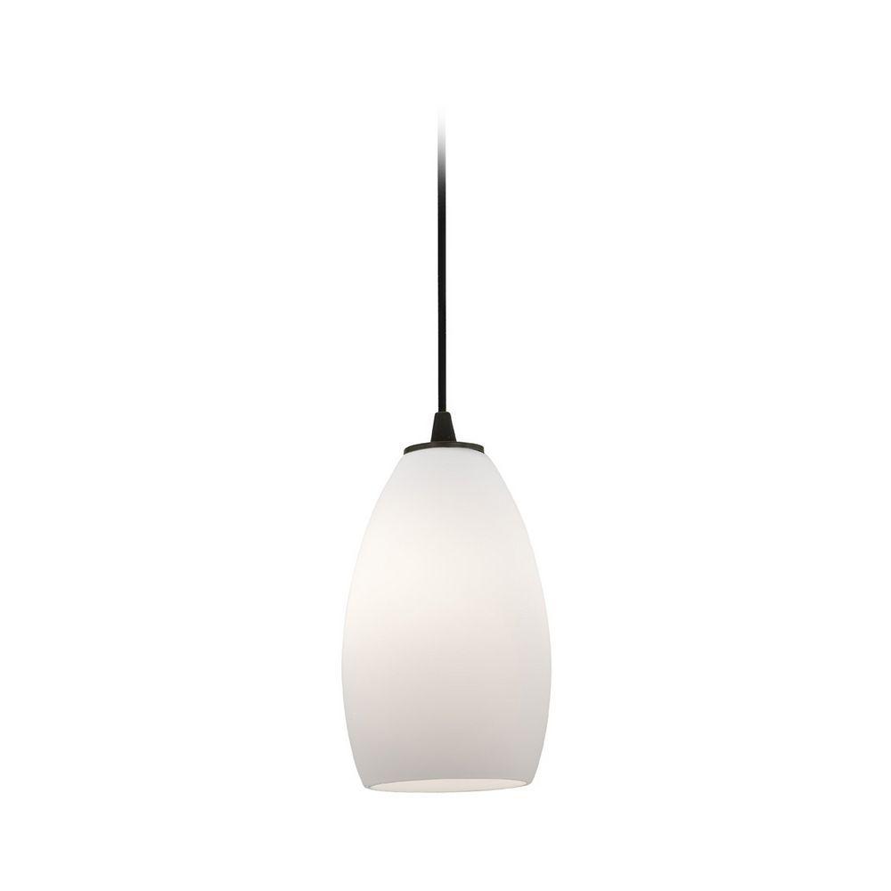 Modern minipendant light with white glass mini pendant lights