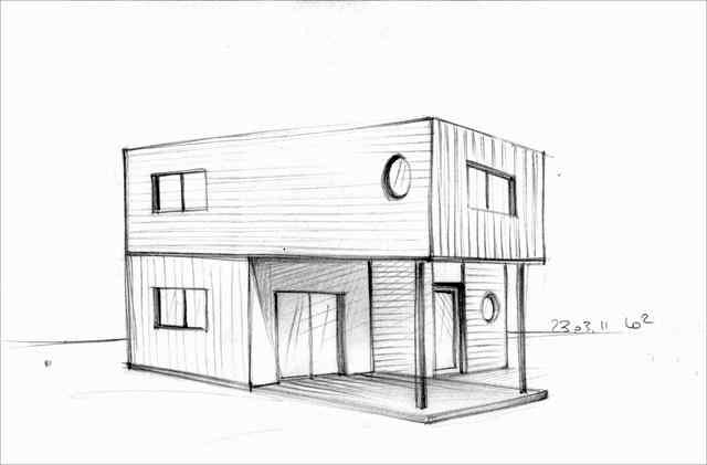 Photos maison dessin architecte architecture sketch for Dessin de maison moderne
