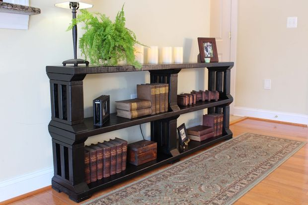 Rustic Book Shelf Or TV Stand DIY Furniture Upholstery